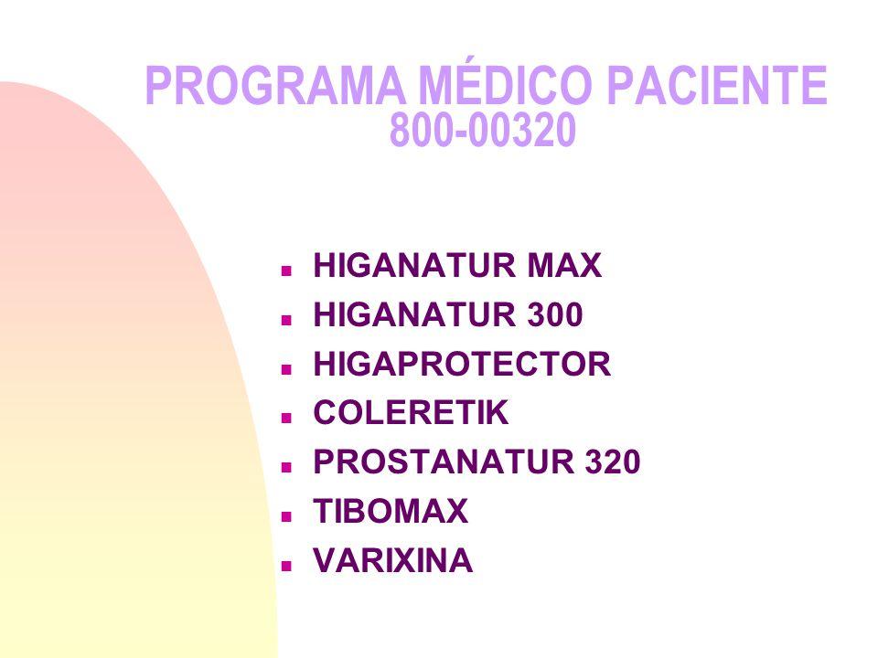 PROGRAMA MÉDICO PACIENTE 800-00320