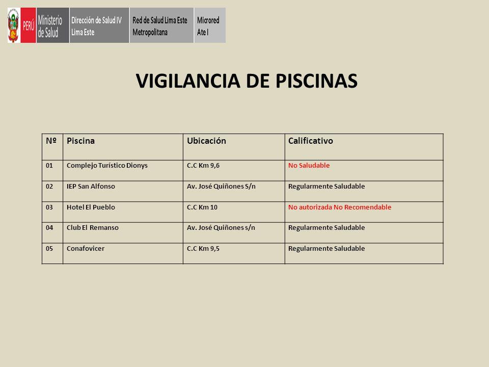 VIGILANCIA DE PISCINAS