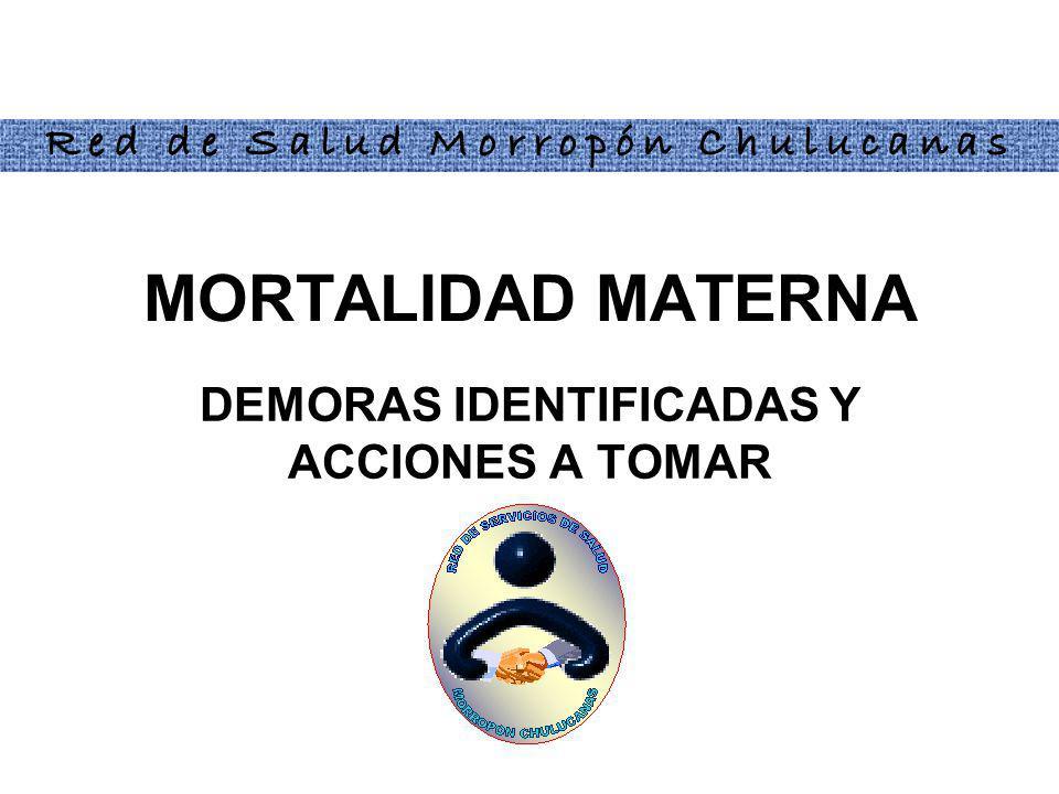 DEMORAS IDENTIFICADAS Y ACCIONES A TOMAR
