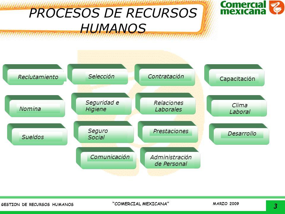 PROCESOS DE RECURSOS HUMANOS