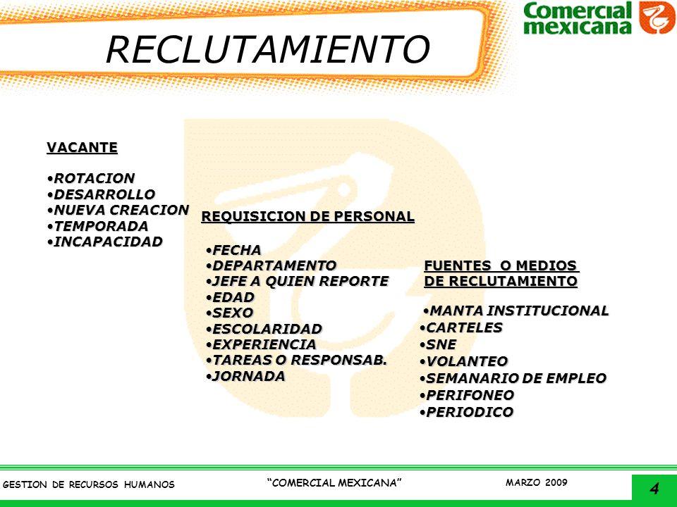 REQUISICION DE PERSONAL