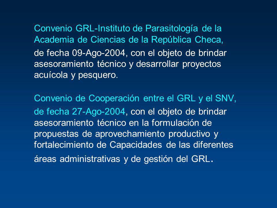 Convenio GRL-Instituto de Parasitología de la Academia de Ciencias de la República Checa,
