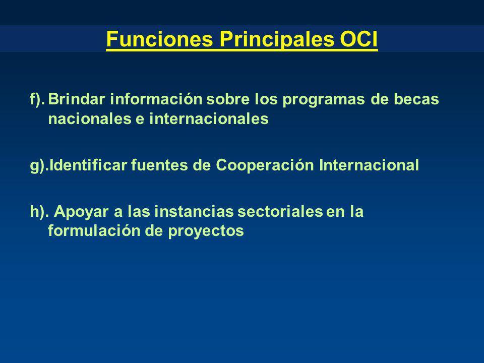 Funciones Principales OCI