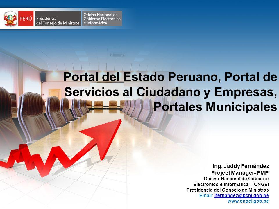 Portal del Estado Peruano, Portal de Servicios al Ciudadano y Empresas, Portales Municipales