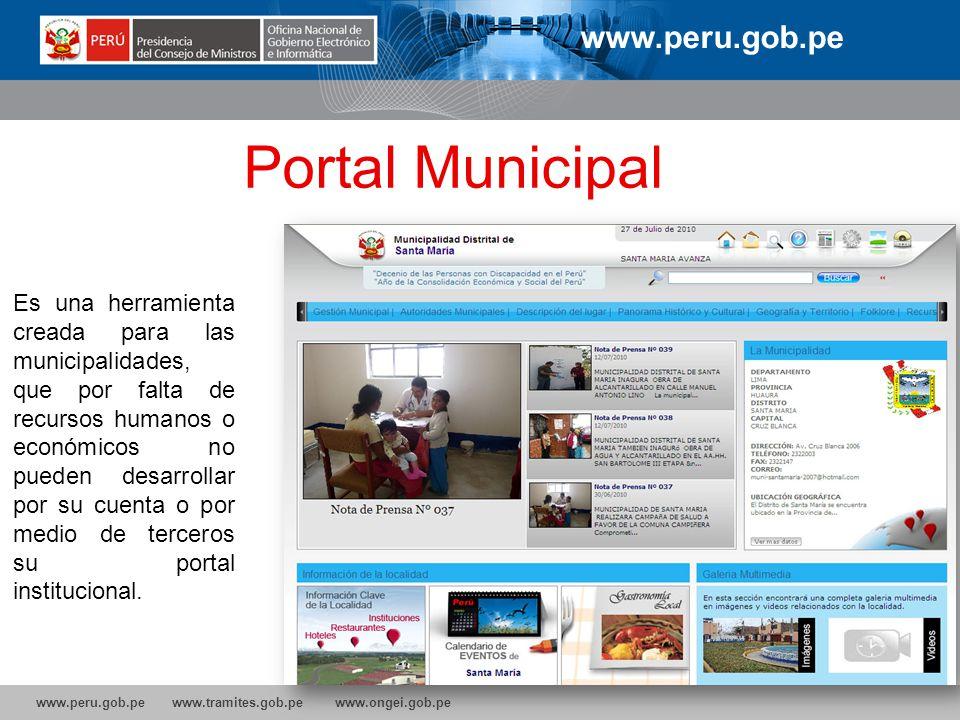 Portal Municipal www.peru.gob.pe