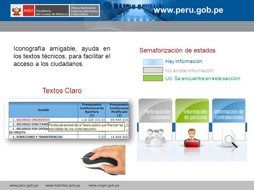www.peru.gob.pe Textos Claro