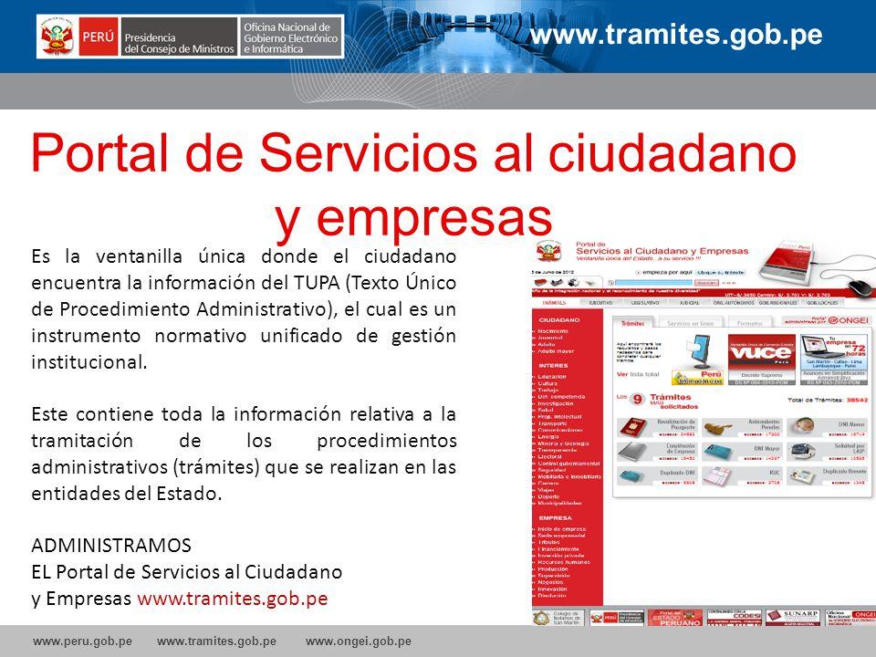 Portal de Servicios al ciudadano