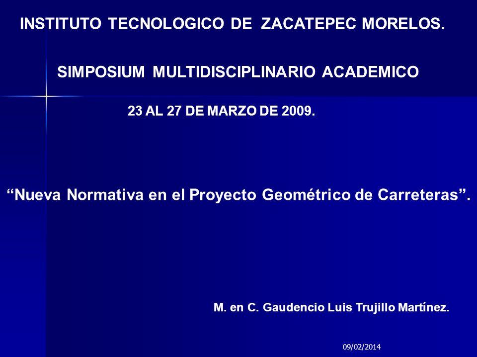 Nueva Normativa en el Proyecto Geométrico de Carreteras .