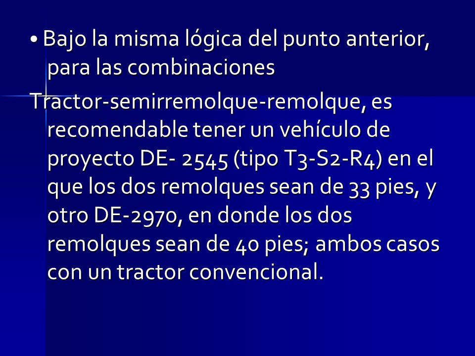 • Bajo la misma lógica del punto anterior, para las combinaciones
