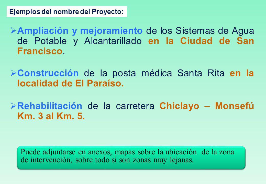 Rehabilitación de la carretera Chiclayo – Monsefú Km. 3 al Km. 5.