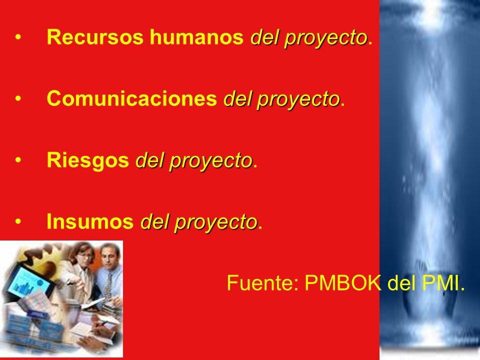 Recursos humanos del proyecto.
