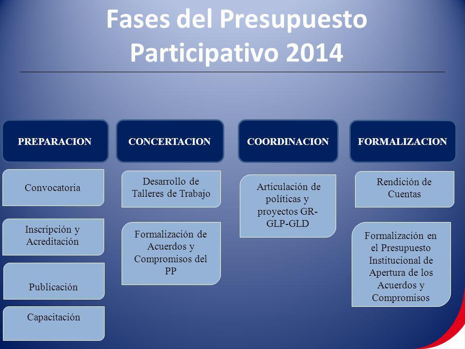 Fases del Presupuesto Participativo 2014