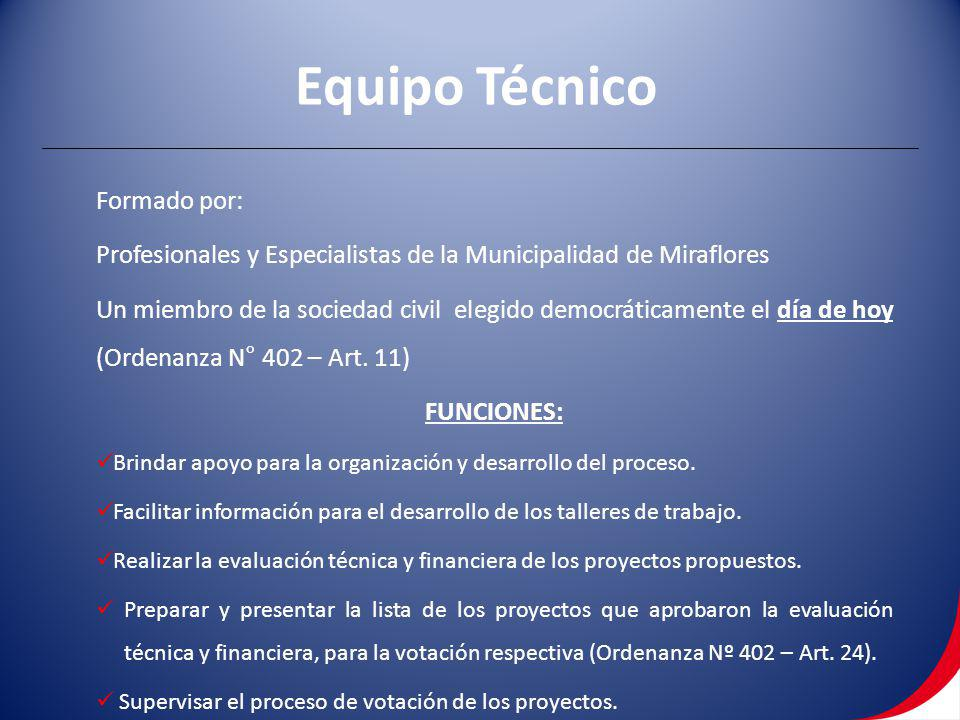 Equipo Técnico Formado por: