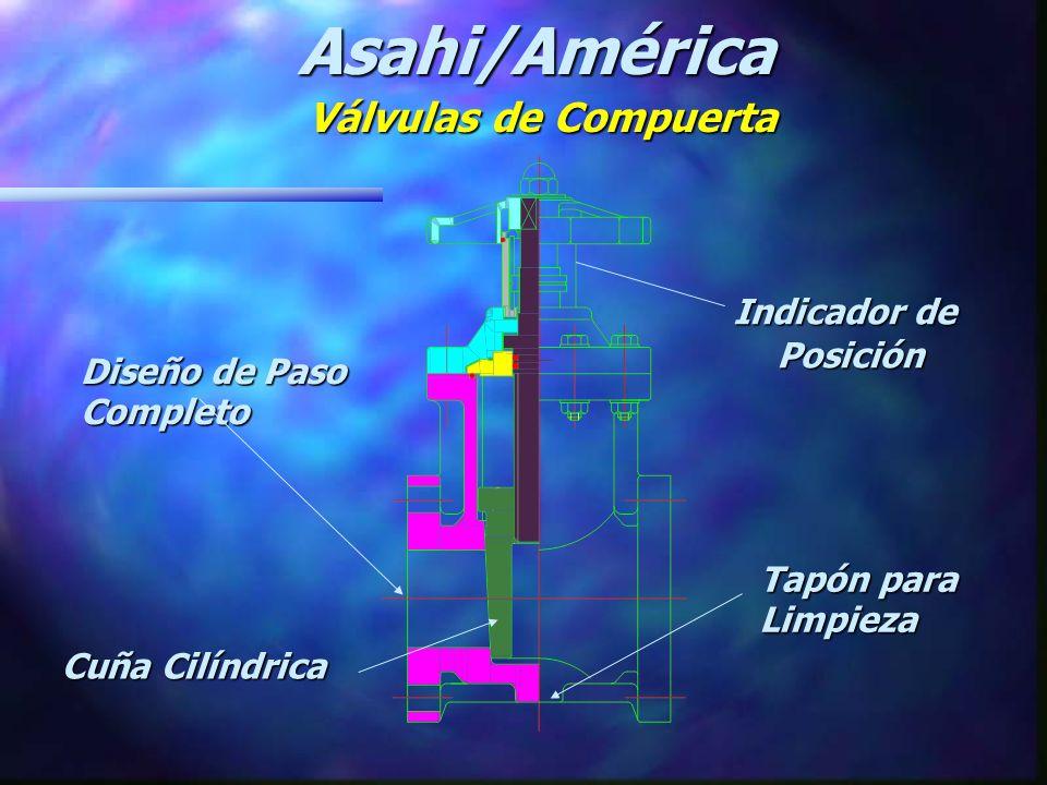 Asahi/América Válvulas de Compuerta