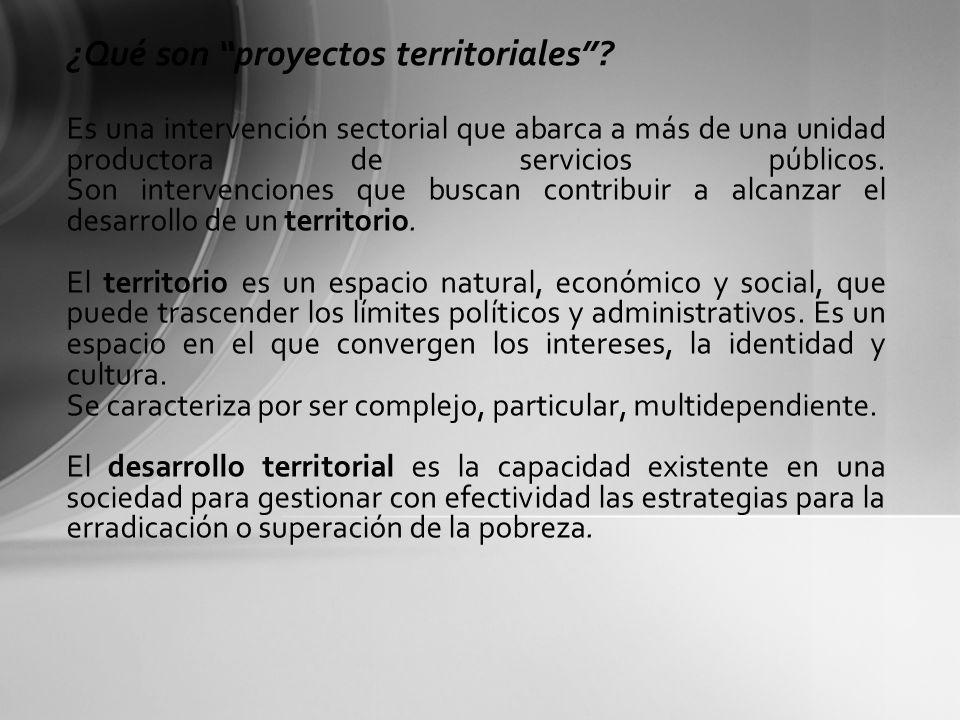 ¿Qué son proyectos territoriales