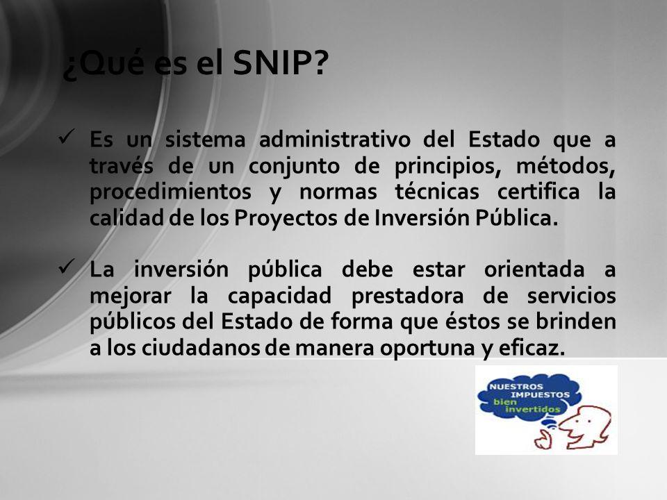 ¿Qué es el SNIP