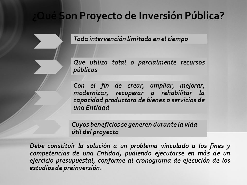 ¿Qué Son Proyecto de Inversión Pública