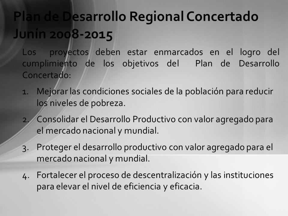 Plan de Desarrollo Regional Concertado Junín 2008-2015