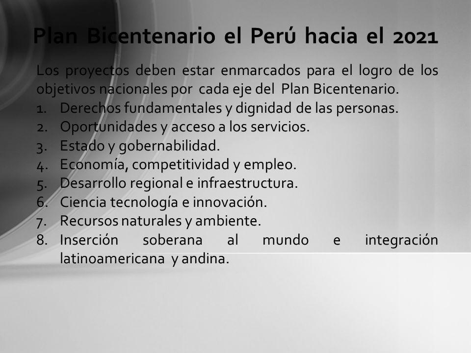 Plan Bicentenario el Perú hacia el 2021