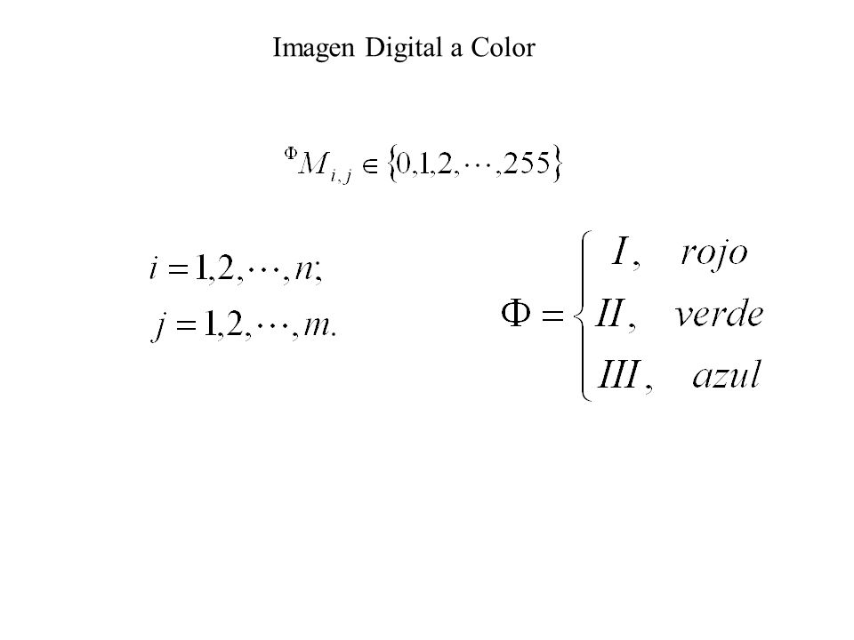 Imagen Digital a Color