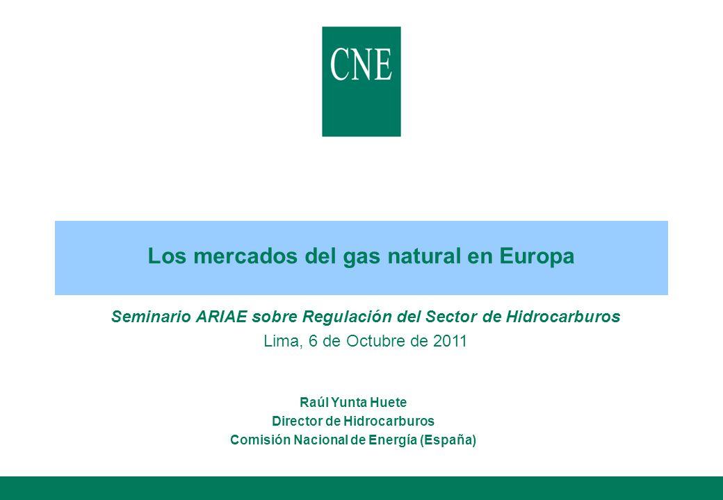 Los mercados del gas natural en Europa