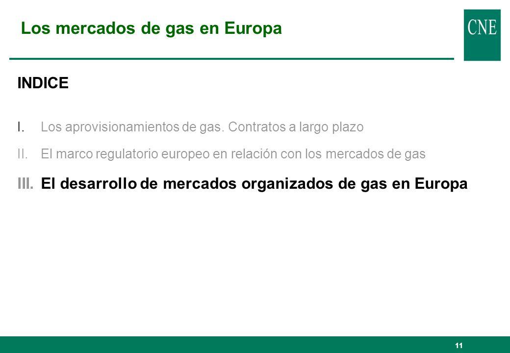 Los mercados de gas en Europa