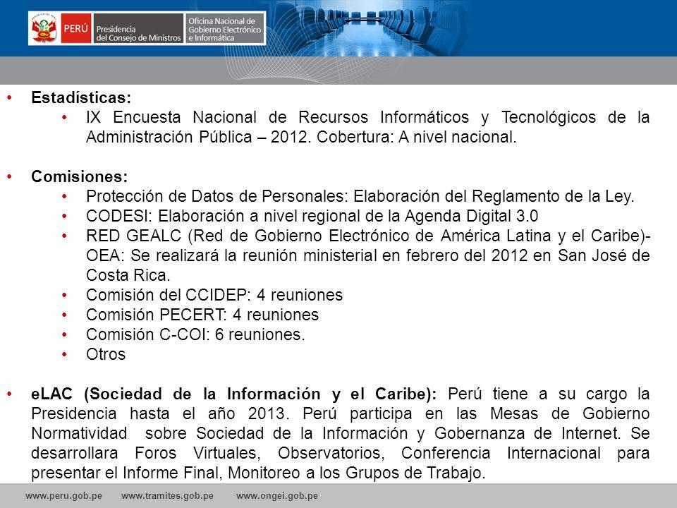 CODESI: Elaboración a nivel regional de la Agenda Digital 3.0