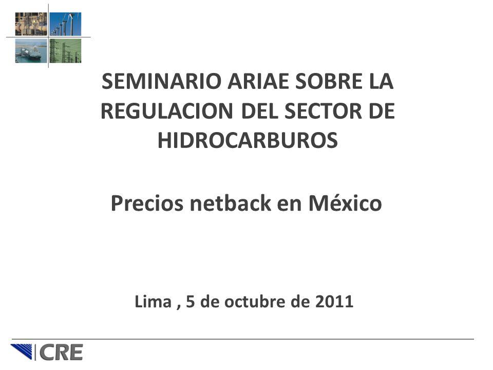Precios netback en México