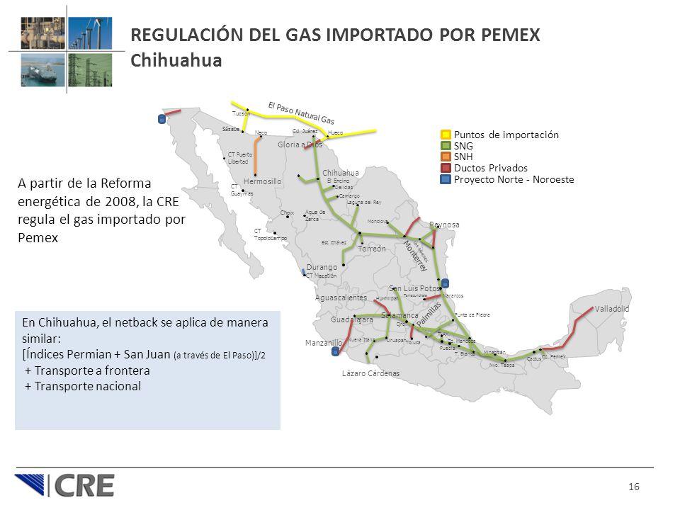 REGULACIÓN DEL GAS IMPORTADO POR PEMEX Chihuahua