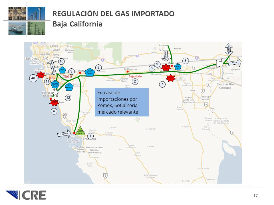 REGULACIÓN DEL GAS IMPORTADO Baja California
