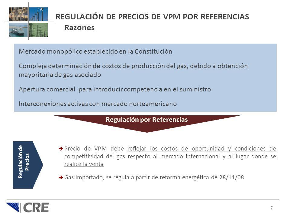 REGULACIÓN DE PRECIOS DE VPM POR REFERENCIAS Razones
