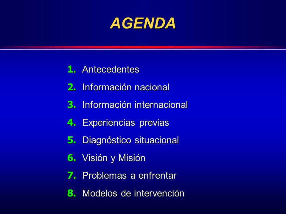 AGENDA 1. Antecedentes 2. Información nacional