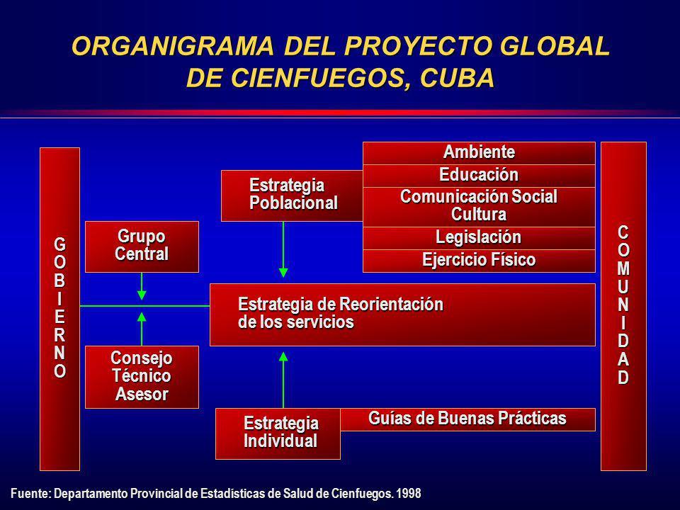 ORGANIGRAMA DEL PROYECTO GLOBAL DE CIENFUEGOS, CUBA