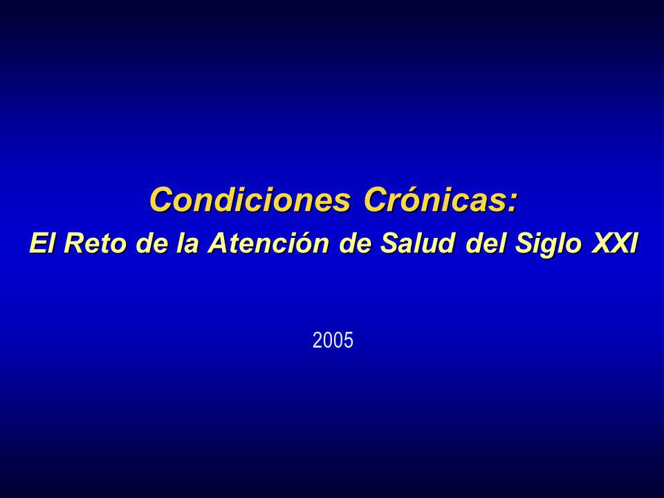 Condiciones Crónicas: El Reto de la Atención de Salud del Siglo XXI