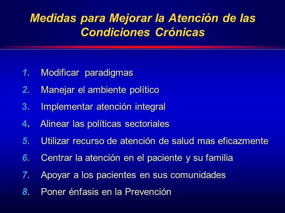 Medidas para Mejorar la Atención de las Condiciones Crónicas