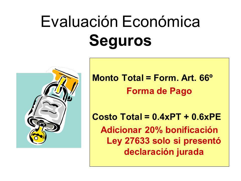 Evaluación Económica Seguros