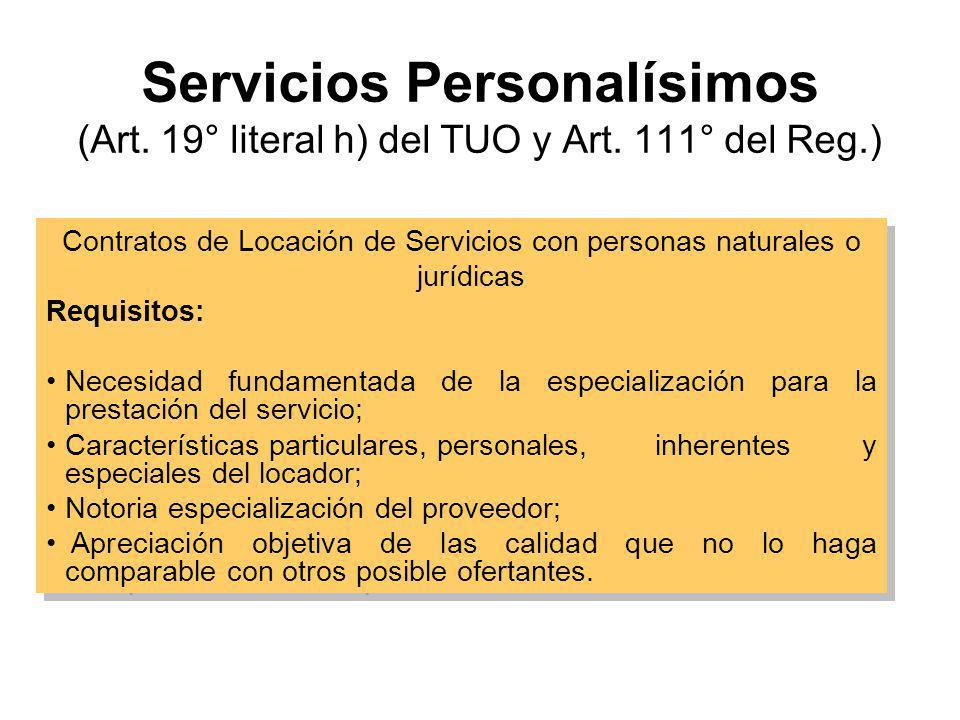 Contratos de Locación de Servicios con personas naturales o jurídicas