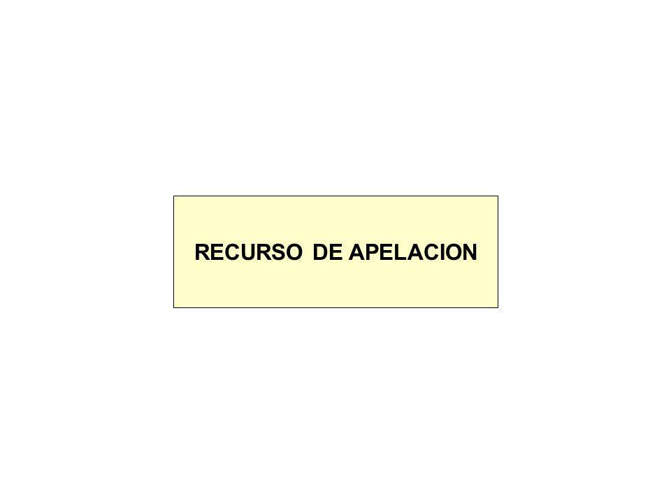 RECURSO DE APELACION