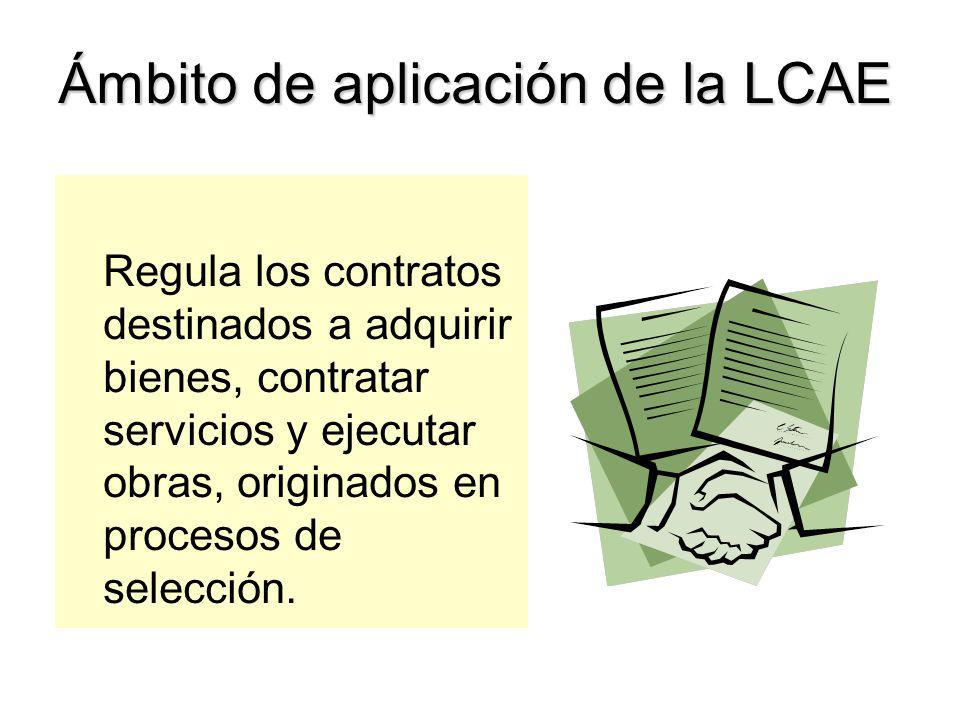 Ámbito de aplicación de la LCAE