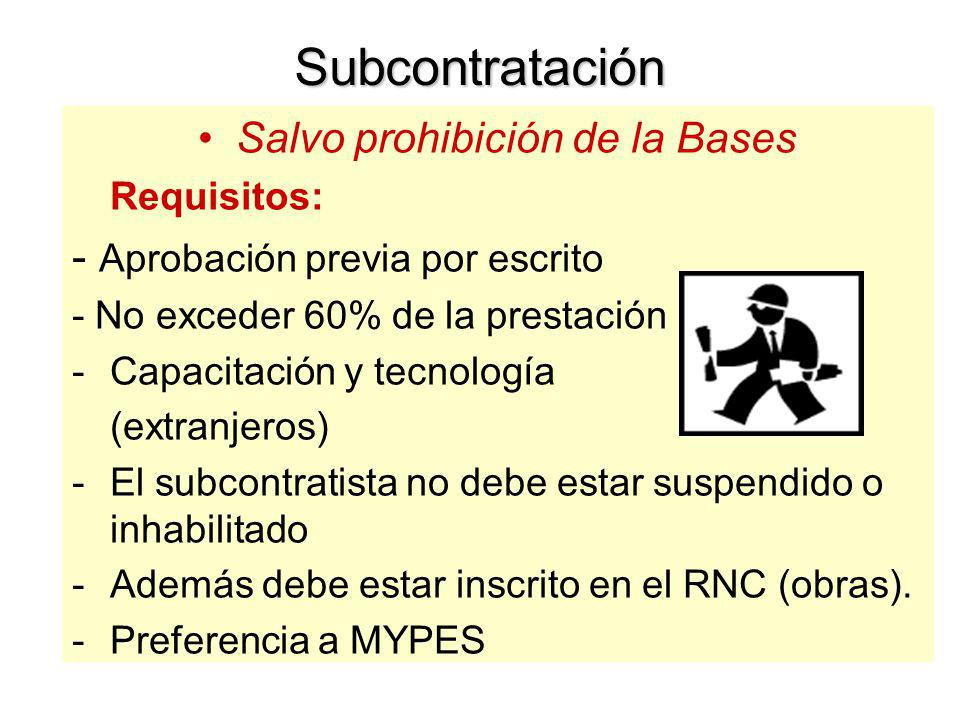 Salvo prohibición de la Bases