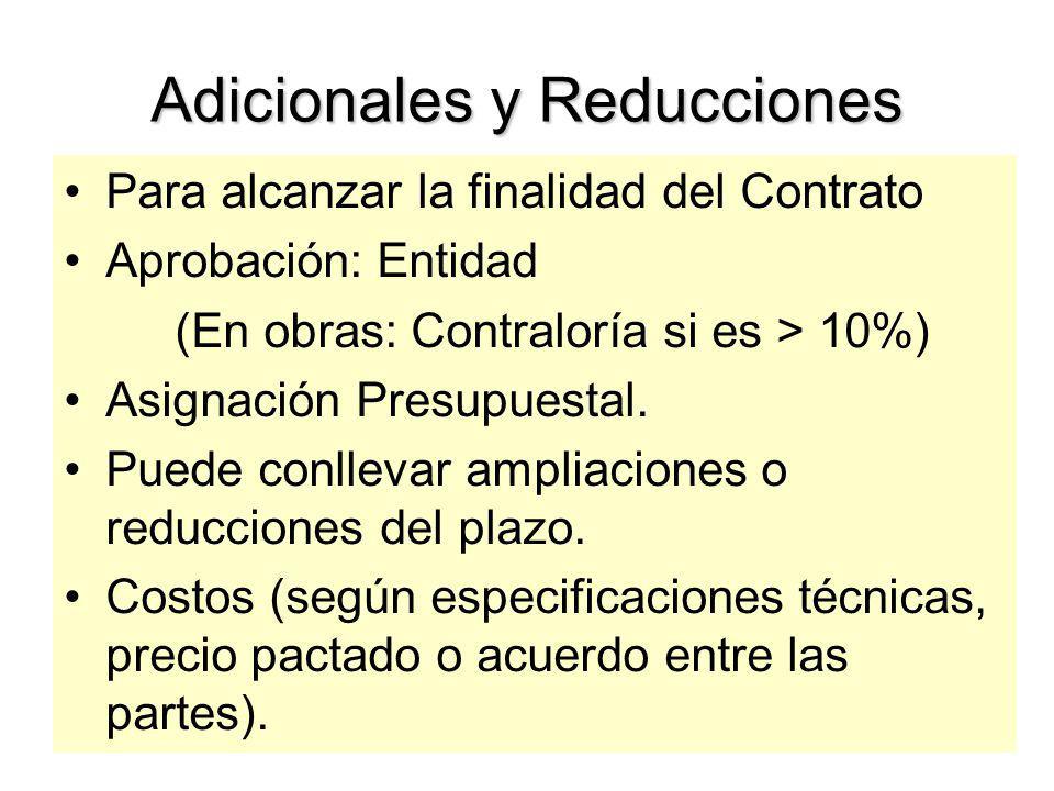Adicionales y Reducciones