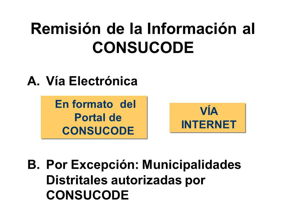 Remisión de la Información al CONSUCODE