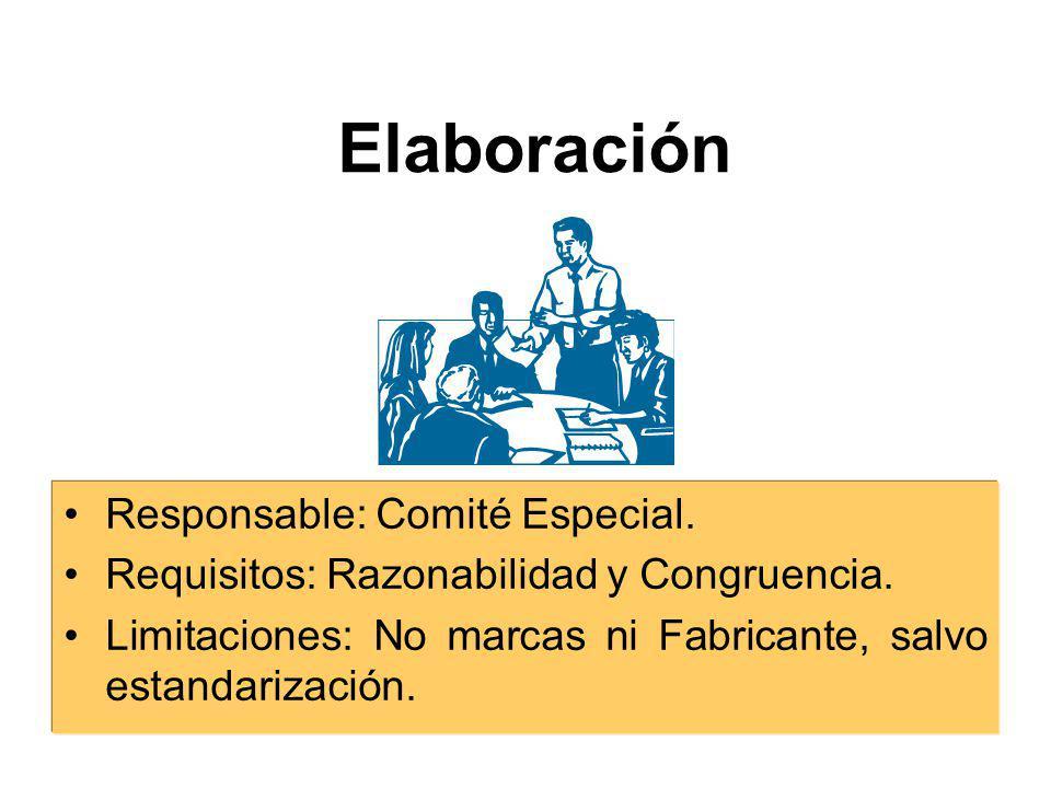 Elaboración Responsable: Comité Especial.