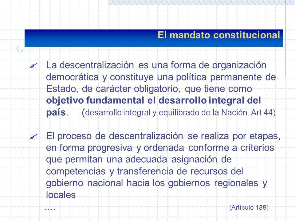 El mandato constitucional