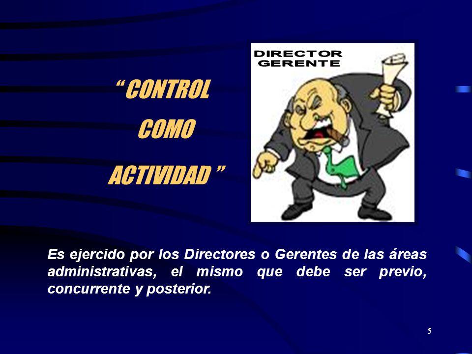 CONTROL COMO ACTIVIDAD