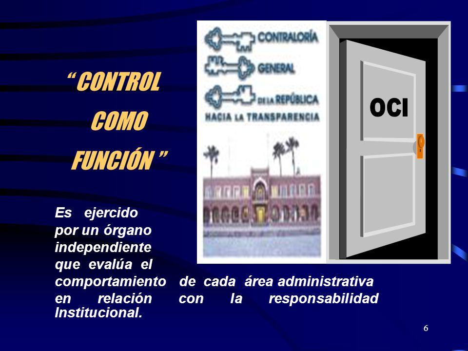 CONTROL COMO FUNCIÓN