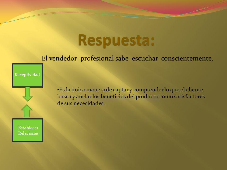 El vendedor profesional sabe escuchar conscientemente.