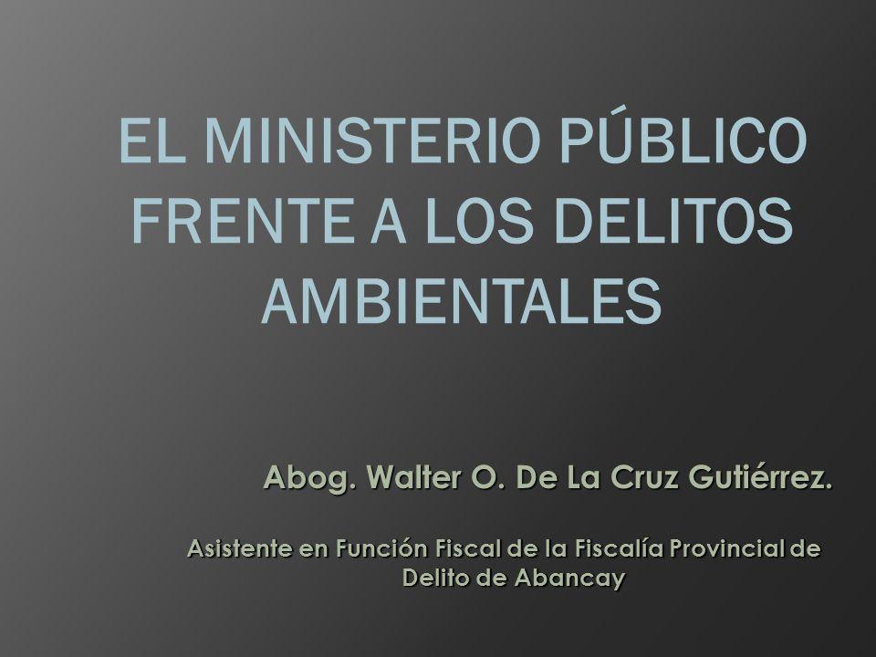 EL MINISTERIO PÚBLICO FRENTE A LOS DELITOS AMBIENTALES