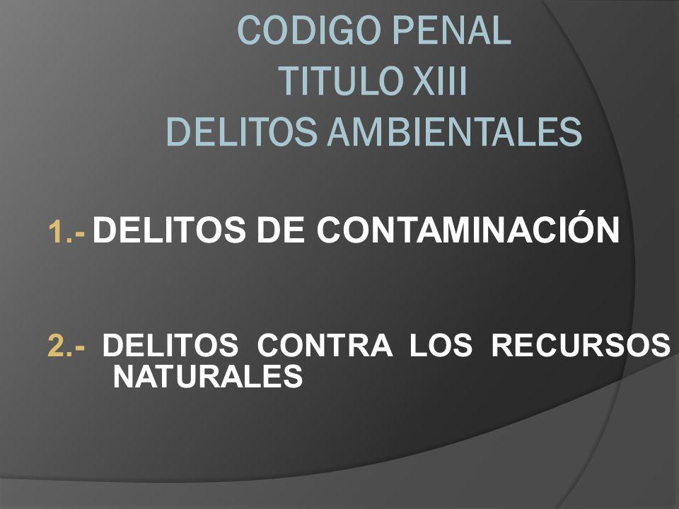 CODIGO PENAL TITULO XIII DELITOS AMBIENTALES