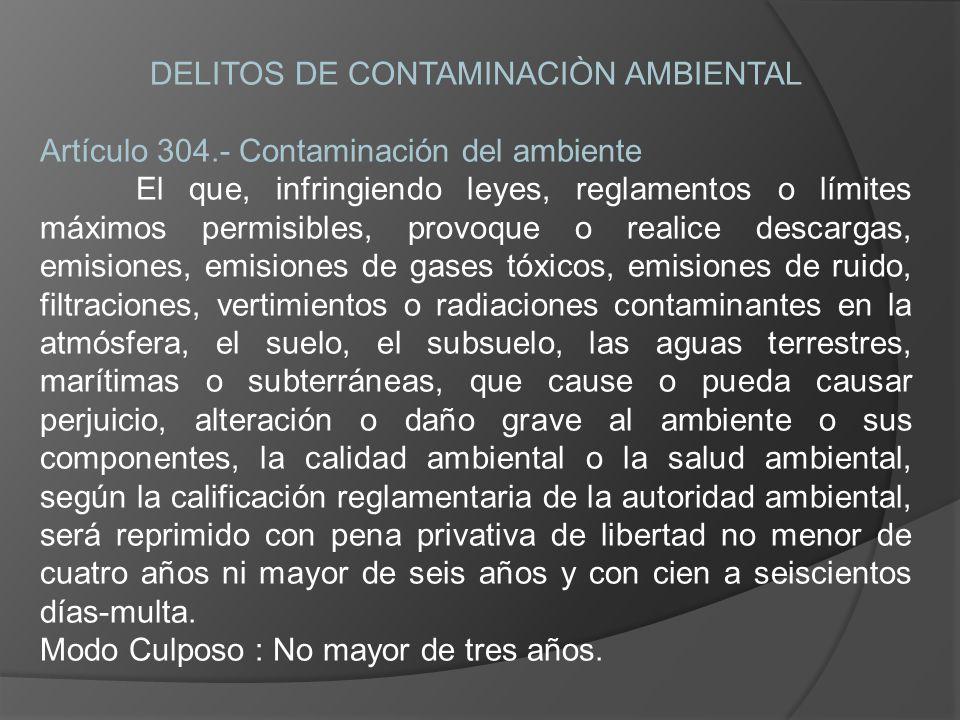 DELITOS DE CONTAMINACIÒN AMBIENTAL